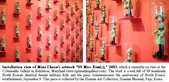 Installation view of Mina Cheon's artwork