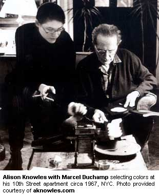 Alison Knowles with Marcel Duchamp